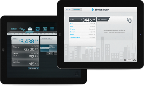 Simian Bank iPad App